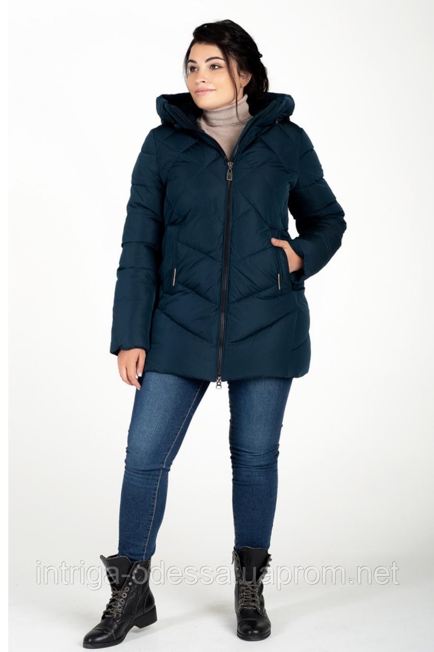 Куртка зимняя женская 228-27 (тёмно-зелёный)