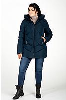 Куртка зимняя женская 228-27 (тёмно-зелёный), фото 1