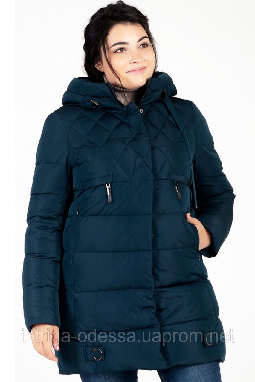 Куртка зимняя женская 739-27 (тёмно-зелёный)