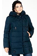 Куртка зимняя женская 739-27 (тёмно-зелёный), фото 1