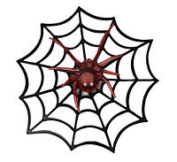 Паук на паутине 29 см (пластик)
