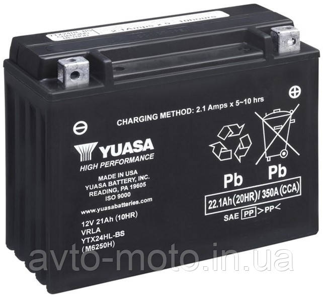 Мото аккумулятор Yuasa 22.1 Ah/12V High Performance MF