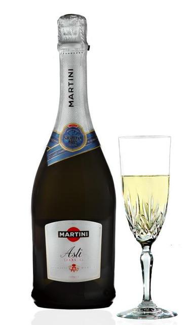 Итальянское вино игристое Martini Asti / Шампанское полусладкое Martini 0,75л.