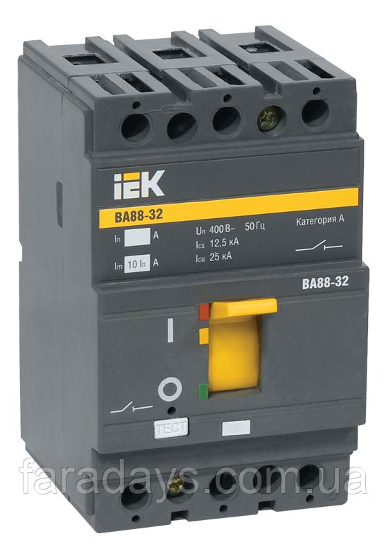 Автоматичний вимикач 3р, 50A, Im = 10In, 25кА (ВА88-32 IEK)