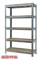 Стеллаж металлический для склада/магазина/гаража ЧК-300 2500х1440х720, оцинк.,5 полок ДСП, до 440 кг/полку