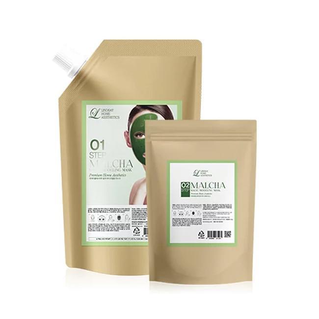 Гелевая альгинатная маска с зеленым чаем Lindsay Magic Modeling Mask Malcha