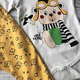 Желтый костюм, комплект на мальчика Miniworld 70. Размер 68 см. 74 см, фото 2