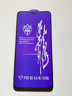 Захисне скло 6D для Xiaomi Mi A3 Full Glue Чорне