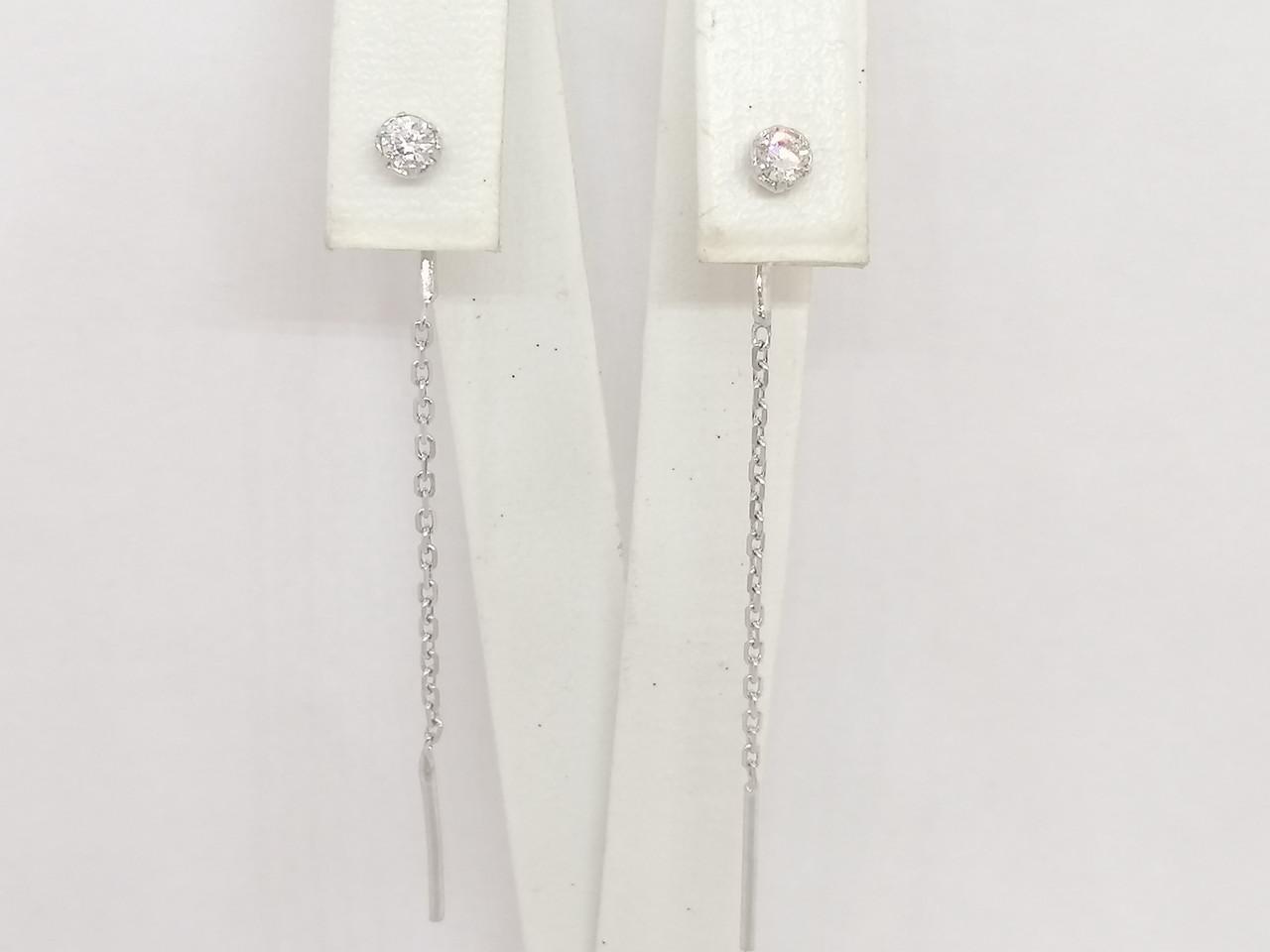 Срібні сережки-протяжки. Артикул 3524094401