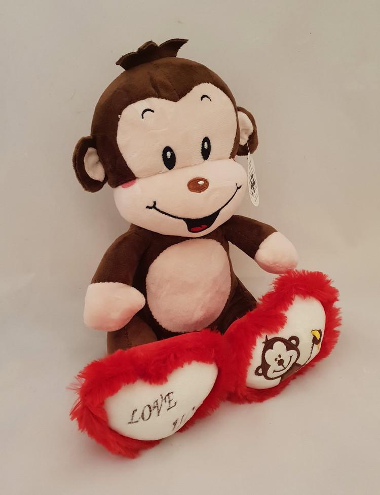 Плюшевая музыкальная обезьяна 27 см