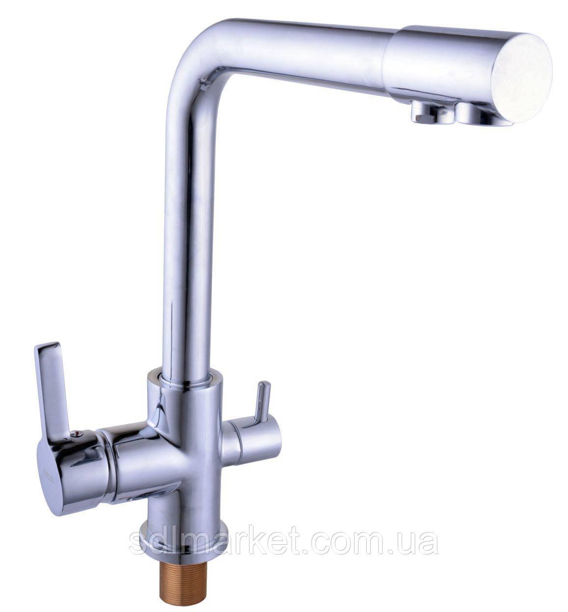 Смеситель кухонный Globus Lux LAZER GLLR-0444 комбинированный