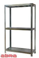 Стеллаж металлический для склада/магазина/гаража ЧК-300 2500х1840х600, оцинк.,3 полки металл, до 400 кг/полку