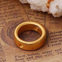Рамка для Намистини, Коло, Колір: Матове золото, Цинковий сплав, Підходить для намистин 7 мм, 11 мм діаметр, фото 1