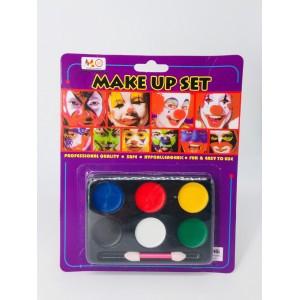 Краски для лица HORROR MAKE UP PALETTE 6 цветов