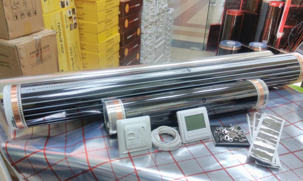 5.5m2 нагрівальна плівка 1м х 5,5 Hot-Film комплект теплої підлоги з терморегулятором