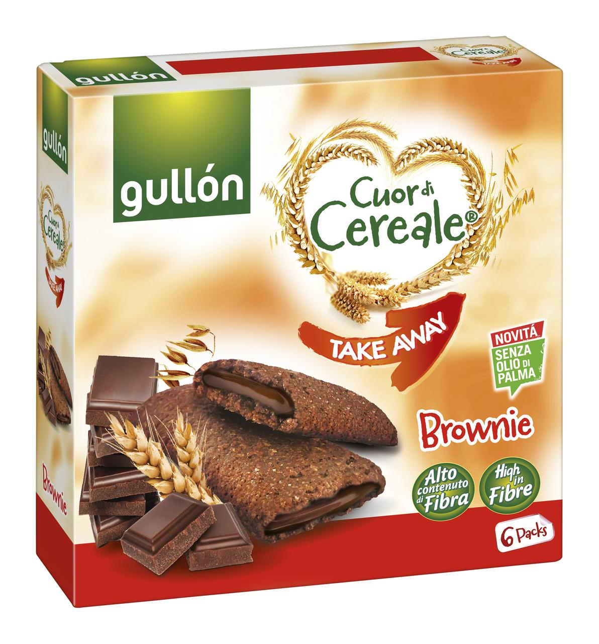 Печиво GULLON Takeaway Brownie, 202г, 7шт/ящ