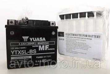 Мото аккумулятор Yuasa 4 Ah/12V MF VRLA Battery AGM