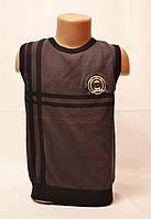 Осенние вязанные жилетка для мальчика от 4 до 8 лет. Фирма KGDL.