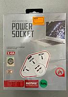 Сетевой фильтр-удлинитель REMAX BKL-07 (3SOCKET/4USB) 3.4A