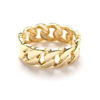 Браслет крупная цепь (цвет золото), фото 1