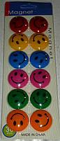 Набор магнитов 30 мм со смайлами