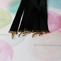 Лента для медалей и наград, Чёрная, 12мм, 65см