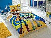 Детское полуторное постельное белье ранфорс, Toy story 4