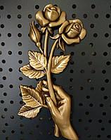 Роза для надгробного памятника 19х10 см.