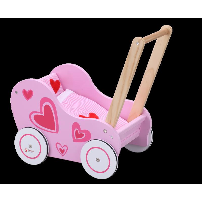 Ходунки коляска деревянная Classic World CW2812