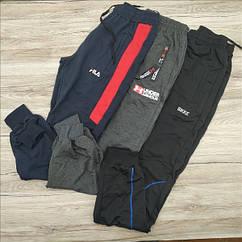 Штаны спортивные мужские разные бренды разные размеры в ростовке М130 с манжетом  МТ-140093