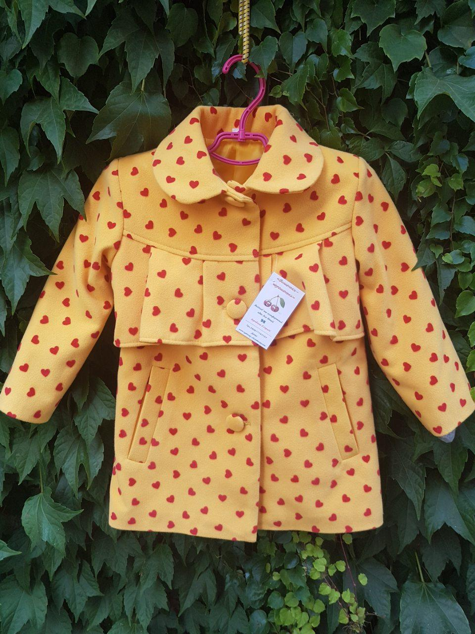 Пальто демисезонное для девочек в расцветках  (0110/12)