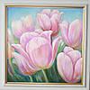 Картина маслом цветы Тюльпаны. Оригинальный подарок