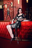 Коктейльное платье с гипюром, фото 1