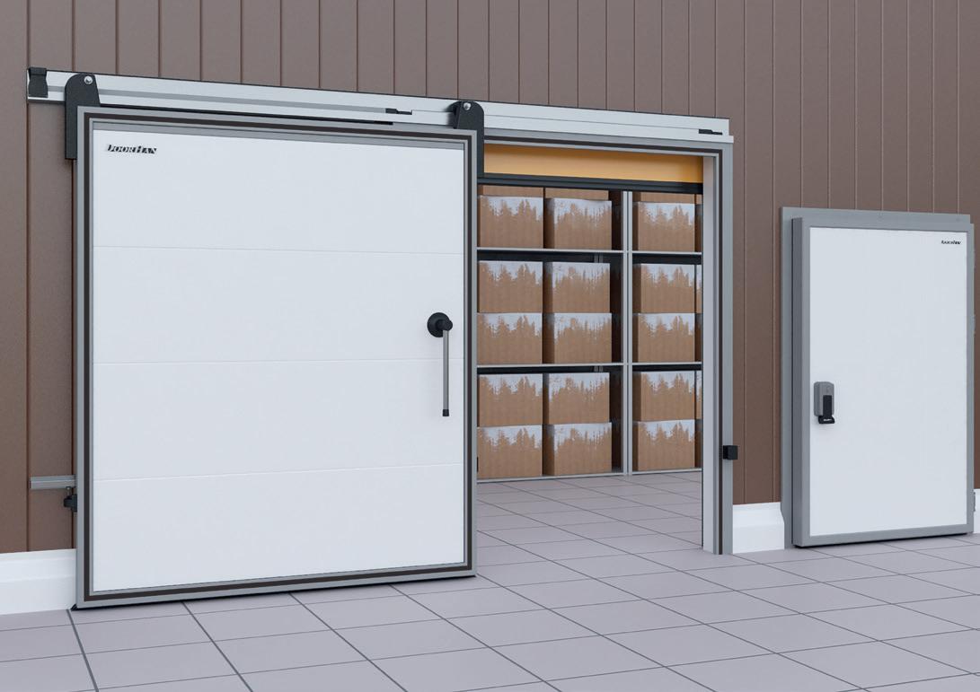 Стандартные комплекты дверей DoorHan IsoDoor для холодильных камер