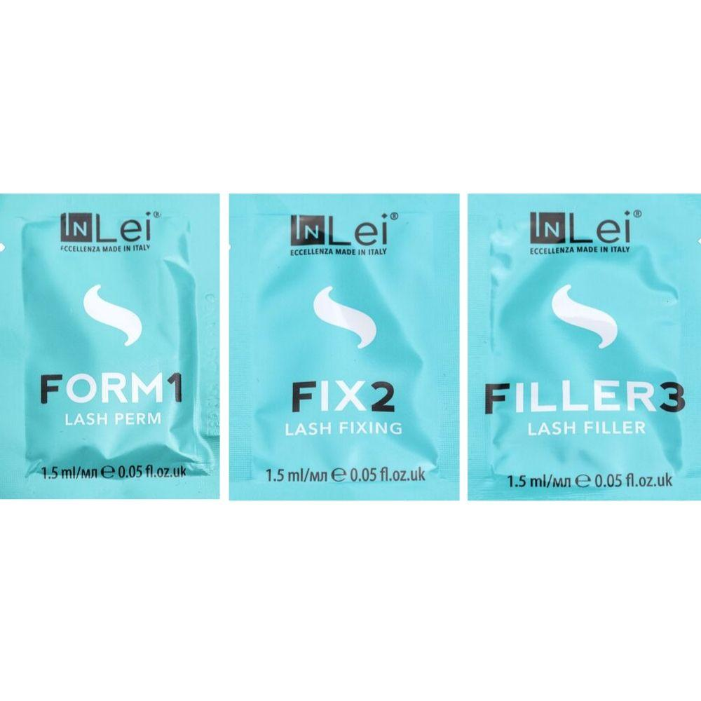 Набор составов In Lei №123 в саше 1.5 ml для ламинирования ресниц и бровей