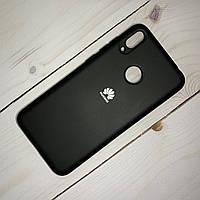 Чехол Silicone Case Huawei Y7 (2019) Черный, фото 1