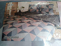 Комплект постільної білизни; двоспальний 100% бавовна Тиротекс сублімація колетта, фото 1