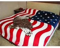 Флисовое покрывало флаг США с орлом, фото 1