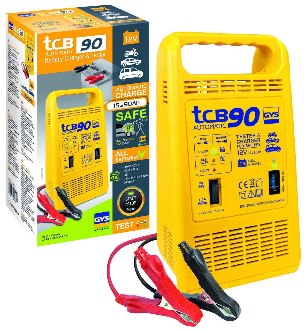 Автоматическое зарядное устройство GYS TCB 90 (12В, 15-90А/час)