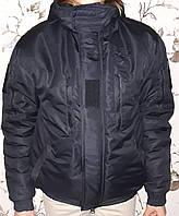 """Куртка """"Поліція"""", чорна, зимова."""