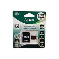 Карта пам'яті microSD 128 Гб Apacer з адаптером, class 10 (UHS-1)