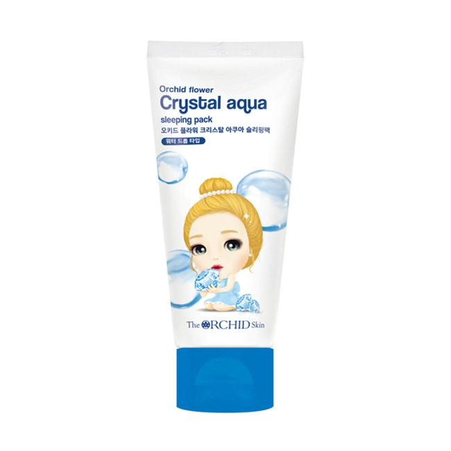 Супер увлажняющая ночная маска для лица The Orchid Skin Crystal Aqua Sleeping Pack