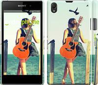 "Чехол на Sony Xperia Z1 C6902 Девушка с гитарой ""178c-38"""
