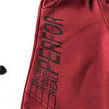 Теплые красные подростковые спортивные штаны для мальчика Toontoy. Размер 128 см, фото 2