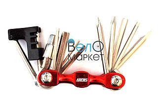 Мультитул ARDIS KL-9835C, 11 элементов, набор необходимых шестигранники, 3 отвертки, выжимка цепи