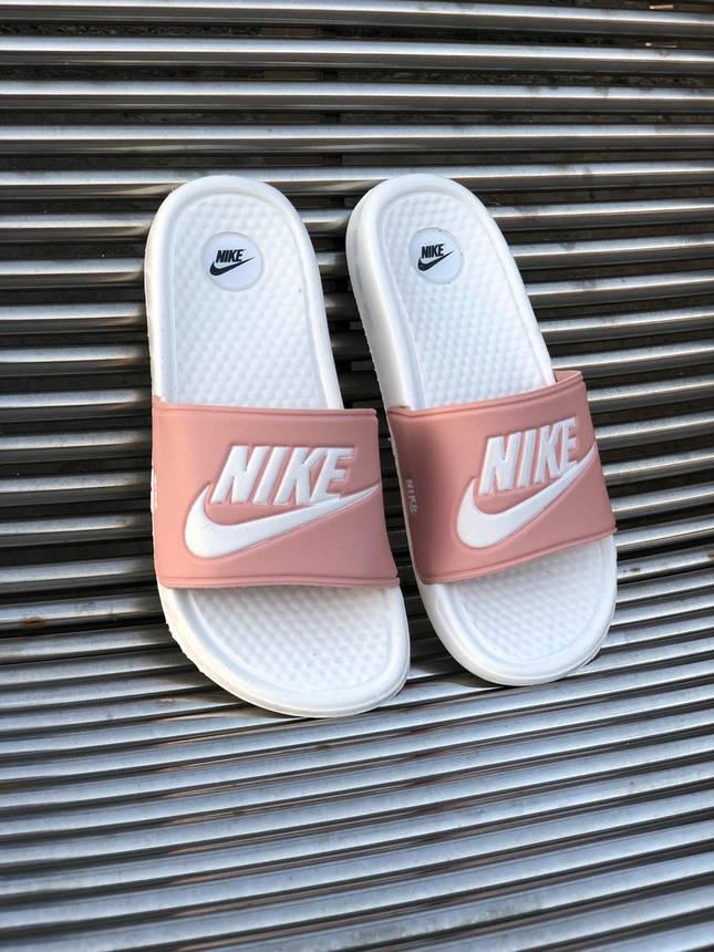Шлёпки Nike Найк Розово-Белые, фото 2