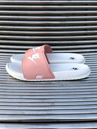 Шлёпки Nike Найк Розово-Белые, фото 3