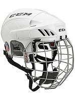 Шлем CCM FITLITE 60 с решеткой, Размер L, белый, FTL60C-W-L