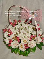 Конфетный букет-интересная альтернатива цветочному букету из живых цветов.