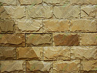 "Плитка Руст песчаник""Ополье желтое "" KLVIV ширина 15 см., лицевая сторона скол (на палете)"